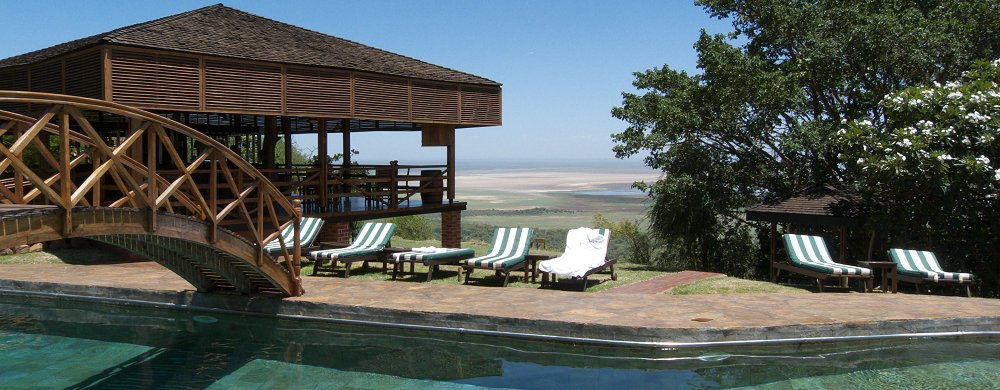 Lake Manyara Wildlife Lodge med utsikt över Great Rift Valley.