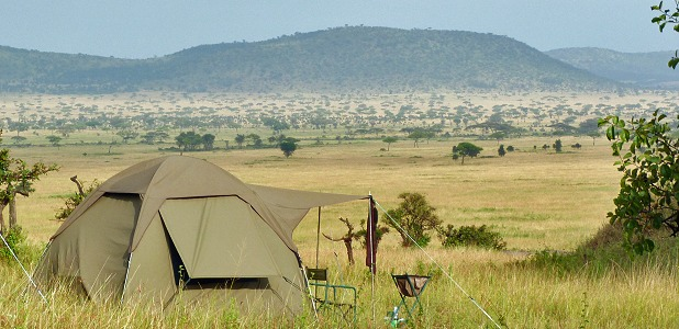 David's Camp i Serengeti.
