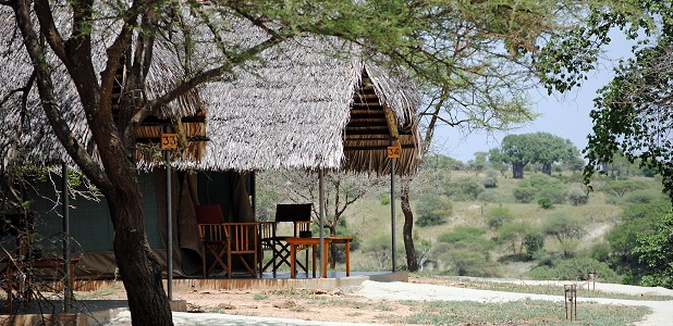 Tarangire Safari Lodge i nationalparken Tarangire.